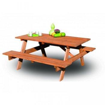 Zahradní dřevěný set PIKNIK FSC R02759