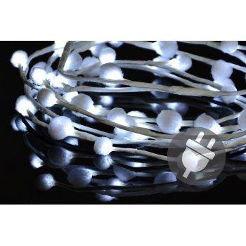 Vánoční LED osvětlení - sněhové vločky - 48 LED, studená bílá D33483