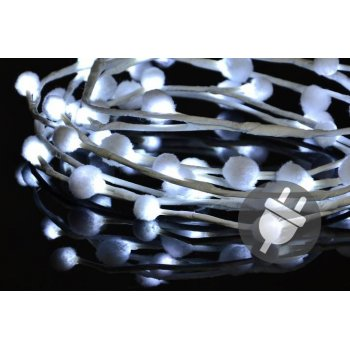 Vánoční LED osvětlení - sněhové vločky - 48 LED, studená bílá