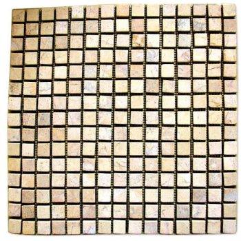 Mramorová mozaika Garth- krémová, 30 x 30 cm obklady - 1x síťka D27855