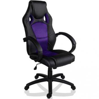 Kancelářské židle MX-Racer + Tuning sada, černá / fialová M39212