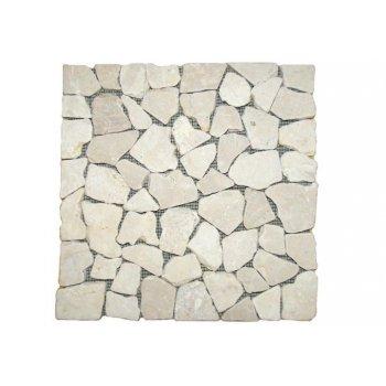 Mramorová mozaika Garth- krémová obklady - 1x síťka D27816