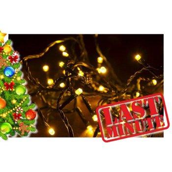 Vánoční LED osvětlení 30 m - teple bílé, 300 diod D28385