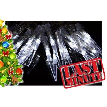 Vánoční dekorativní osvětlení - rampouchy - 60 LED studená bílá D05961
