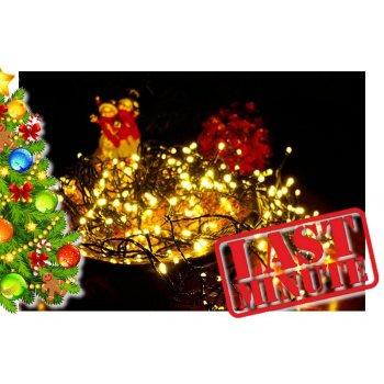 Vánoční LED osvětlení 10 m - teple bílá, 100 diod D00876