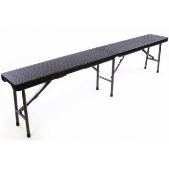 Zahradní set lavice a stůl v ratanové optice - černá