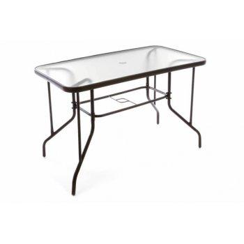 Zahradní stolek se skleněnou deskou 110 x 60 x 72 cm D37022