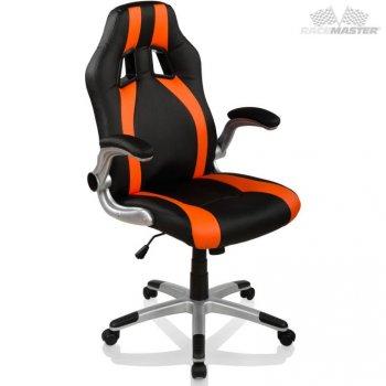 Kancelářská židle GT-Racer Stripes - černá/oranžová M39183