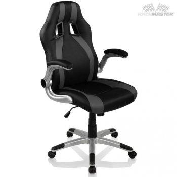 Kancelářská židle GT-Racer Stripes - černá/šedá M39176
