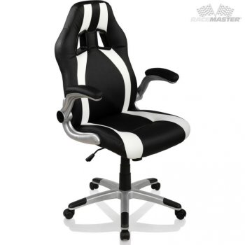 Kancelářská židle GT-Racer Stripes - černá/bílá M39185