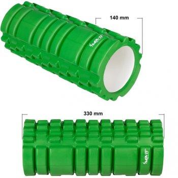 Posilovací masážní válec - FITNESS ROLLER MOVIT zelená