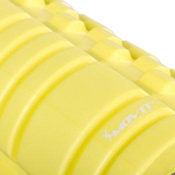 Posilovací masážní válec - FITNESS ROLLER MOVIT citronová