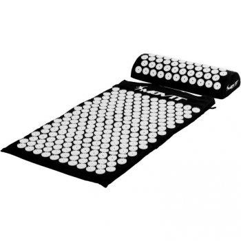 Akupresurní podložka s polštářem MOVIT 75 x 44 cm - černá