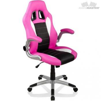Otočná kancelářská židle GT Series One - růžová/černá/bílá M32359