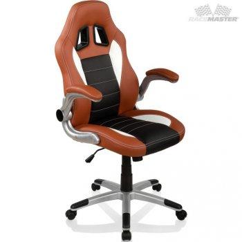 Otočná kancelářská židle GT Series One - hnědá/černá/bílá M32358