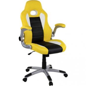 Kancelářská židle GT Stripes Series žlutá/černá/bílá M39188
