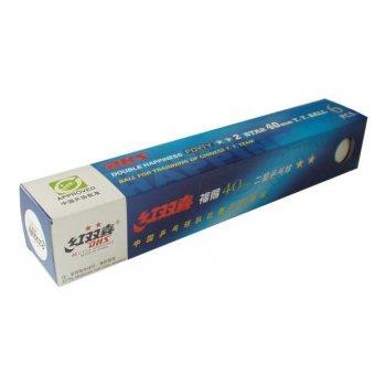 Míčky pro stolní tenis DOUBLE HAPPINESS 2star 6ks 40mm AC34881