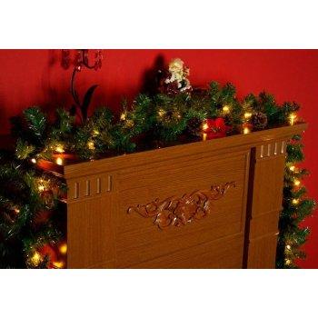 Vánoční dekorace - girlanda s osvětlením 2,7 m D29212