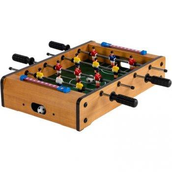 Mini stolní fotbal fotbálek 51 x 31 x 8 cm - světlý M30637