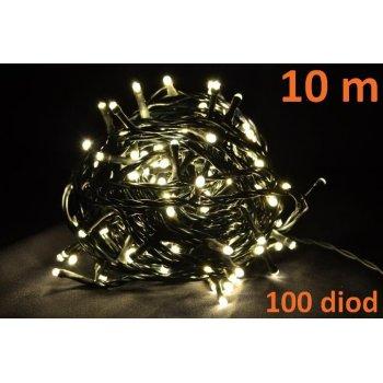 Vánoční LED osvětlení 10m - teple bílé, 100 diod