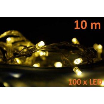 Vánoční LED osvětlení 10 m - teplá bílá, 100 diod D00882