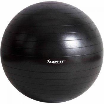 Gymnastický míč MOVIT - černý, 75 cm M06334