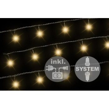 diLED světelný řetěz - 100 LED teple bílá + napájení D02175