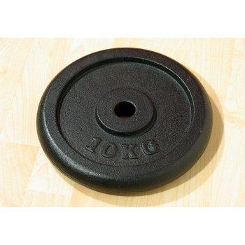 Závaží na činky 10 kg černé litina D00006