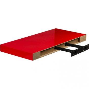 Nástěnná police STILISTA VOLATO - lesklá červená 50 cm