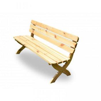 Zahradní dřevěná lavice STRONG přírodní FSC 150 cm R02724