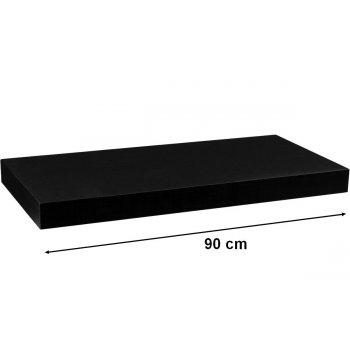 Nástěnná police STILISTA VOLATO - matná černá 90 cm