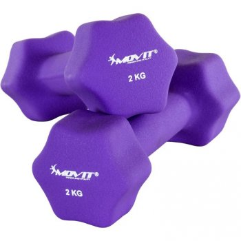 Set 2 činek s neoprenovým potahem 2 kg MOVIT M29319