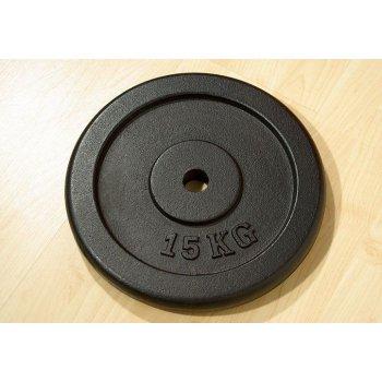 Závaží na činky 15 kg černé litina D00007