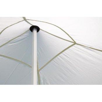 Zahradní párty stan nůžkový 3x3 m, bílý Garth + 4 boční stěny
