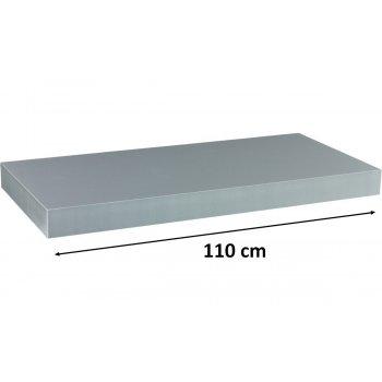 Nástěnná police STILISTA VOLATO - stříbrná 110 cm