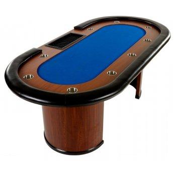 XXL pokerový stůl Royal Flush, 213 x 106 x 75cm, modrá M32445