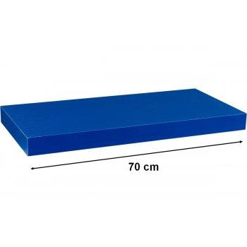 Stilista nástěnná police Volato, 70 cm, modrá