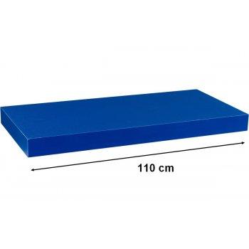 Stilista nástěnná police Volato, 110 cm, modrá