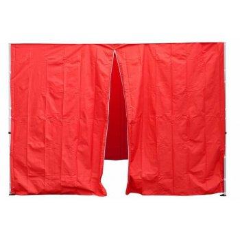 Sada 2 bočních stěn pro PROFI zahradní stan 3 x3 m červená D30693