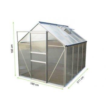 Zahradní skleník Garth s posuvnými dveřmi 311 x 190 x 195 cm D00251