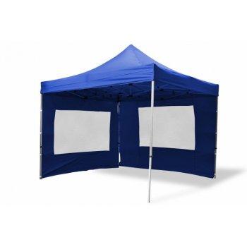 Zahradní párty stan nůžkový 3x3 m, modrý Garth + 4 boční stěny D02487
