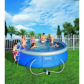 Bestway Samostavěcí zahradní bazén 457 x 107 cm s příslušenstvím AC05615