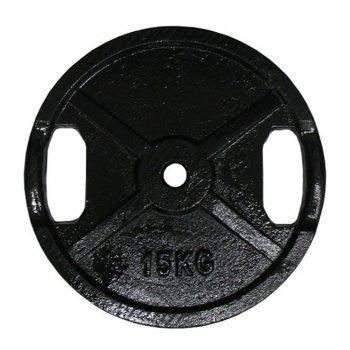 Litinový kotouč s úchopy 15kg - 25 mm AC29954