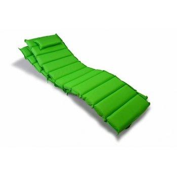 Sada 2 kusů polstrování na lehátko Garthen - zelená