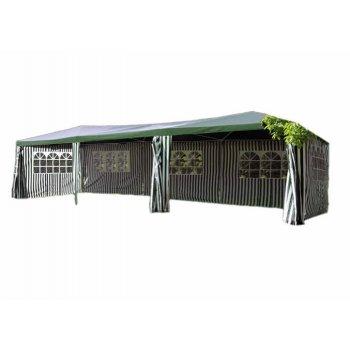 Zahradní stan - zelený, 3 x 9 m D00408