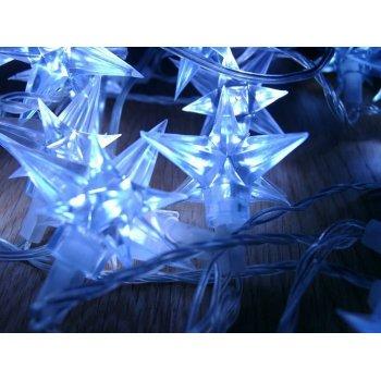 Vánoční LED osvětlení - hvězdy modré 4 m D01006