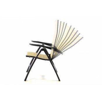 Sada čtyř zahradních skládacích židlí DELUXE - krémová