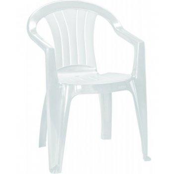 Zahradní plastové křeslo SICILIA bílá R06576