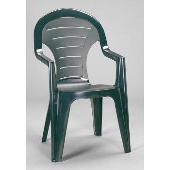 Zahradní plastové křeslo BONAIRE zelená R06589