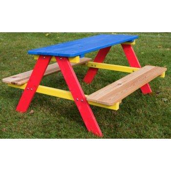 Dětský zahradní dřevěný set PIKNIK FSC R02753